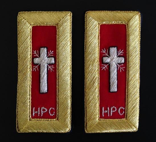 Knight Templar Honorary Past Commander Shoulder Boards