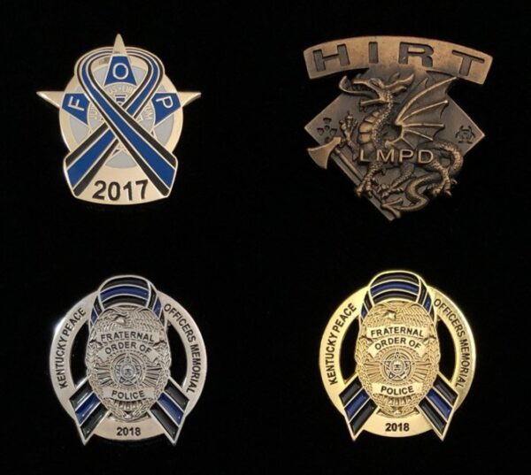 Custom Made Fraternal Order of Police Lapel Pins Fratline