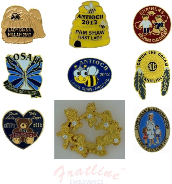 Custom Made Shrine Potentate Lapel Pins Fratline