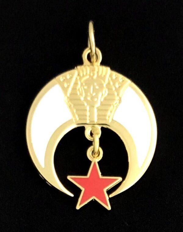 Shrine Shriner Emblem Charm Gold New For Sale