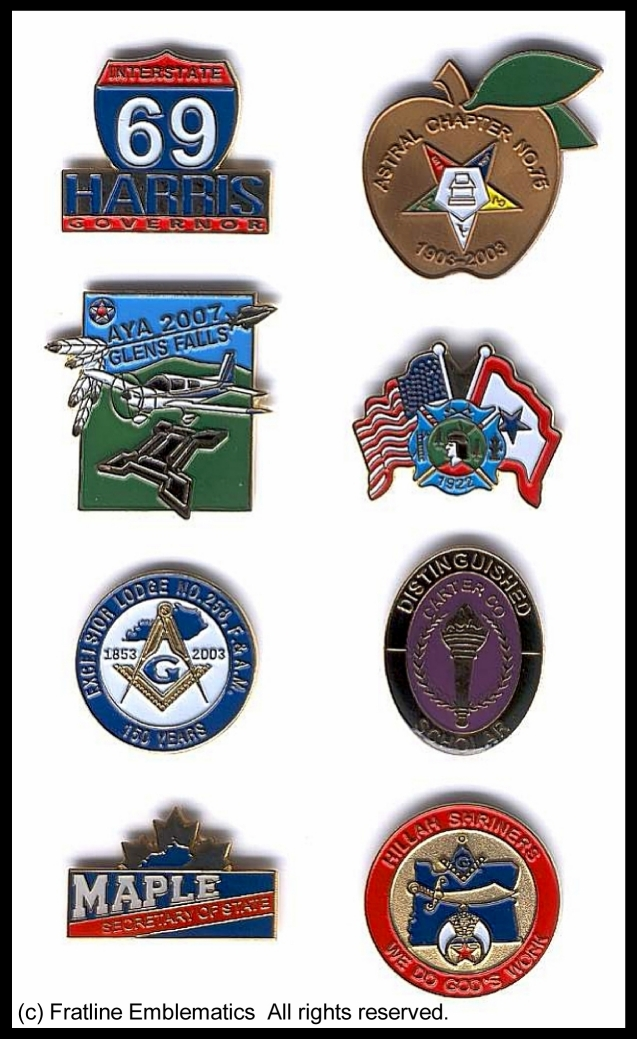 500 Custom Die Struck Lapel Pins for $499 - Click Image to Close