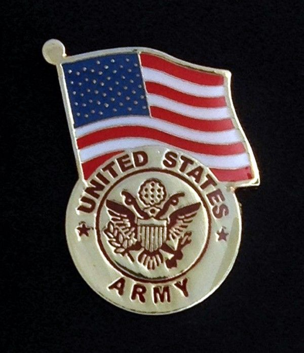 Army US Flag Lapel Pin New