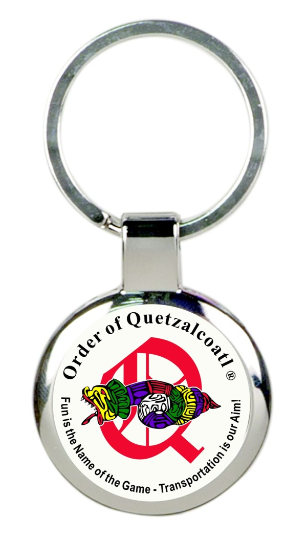 Order of Quetzalcoatl Full Color Key Tag (Silver)