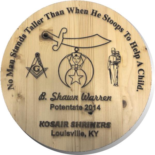 Shrine Shriner Custom Engraved Barrel Lid New