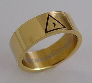 14th Degree Ring in Stainless Steel Layered in Gold