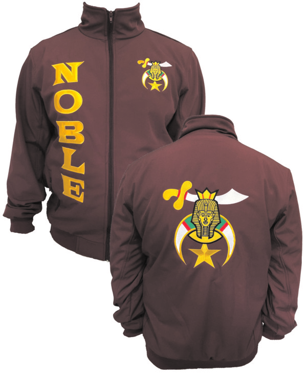 Shriners Microfiber Jacket Embroidered Front and Back (Maroon)