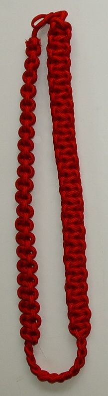 Uniform Cobra Knot Shoulder Cord Red New