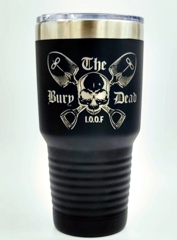 Odd Fellows 30oz. Stainless Steel Travel Cup in Black