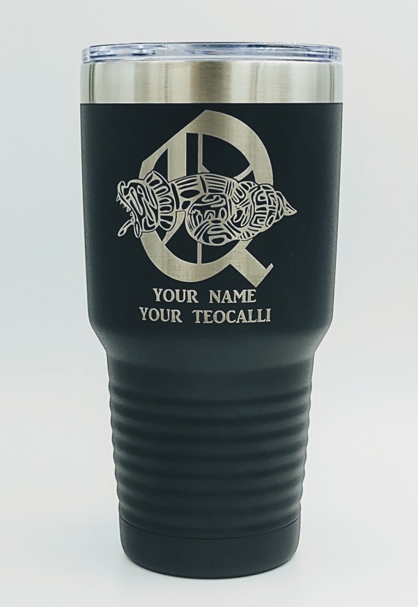 Order of Quetzalcoatl 30oz. Stainless Steel Travel Cup in Black