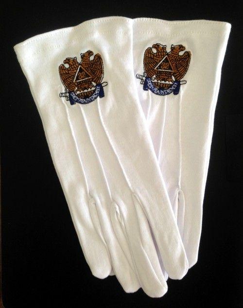 Scottish Rite 32nd Degree Gloves New