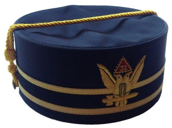 Scottish Rite 32nd Degree Wings Up Cap Crown Black New