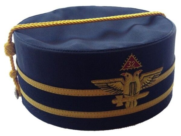 Scottish Rite 32nd Degree Cap Crown Wings Out Black