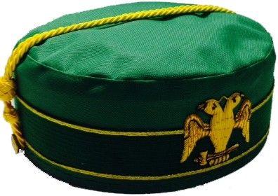 Scottish Rite Cap Crown Wings Down Green Northern