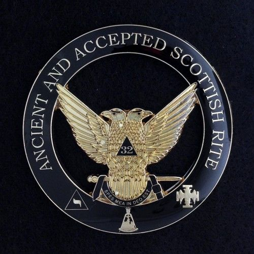 Scottish Rite 32nd Degree Wings Up Auto Emblem New