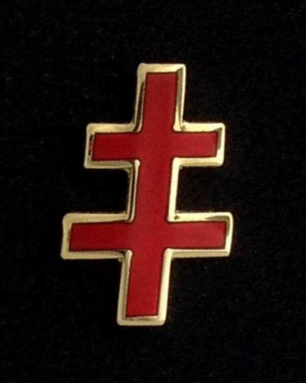 Scottish Rite 33rd Degree Cross Lapel Pin Gold New