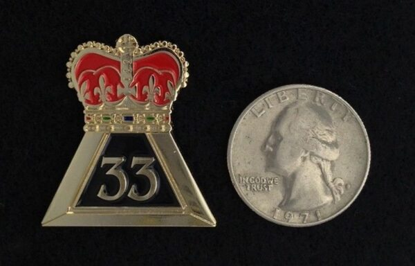 Scottish Rite 33rd Degree Lapel Pin New