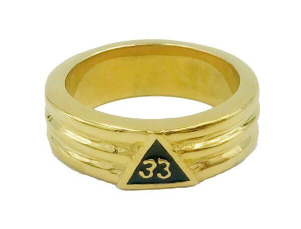 Scottish Rite 33rd Degree Ring Stainless Steel Gold