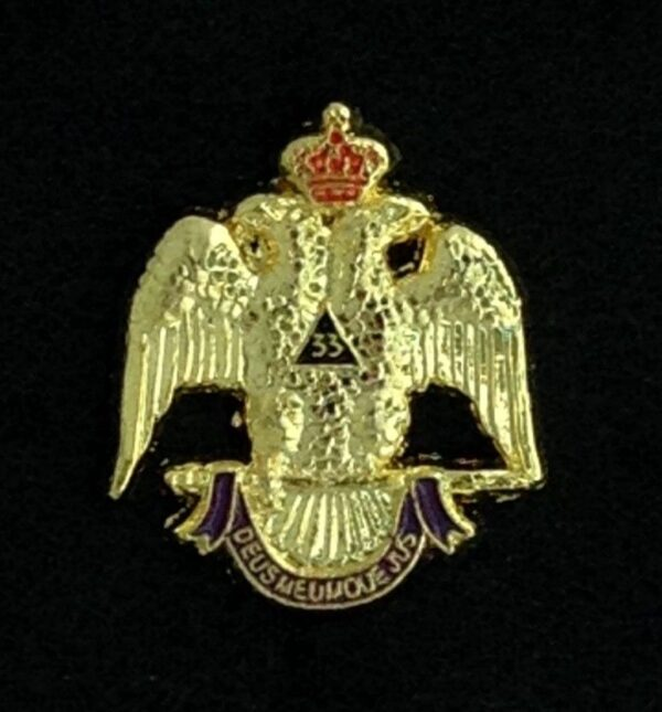 Scottish Rite 33rd Degree Eagle Lapel Pin New