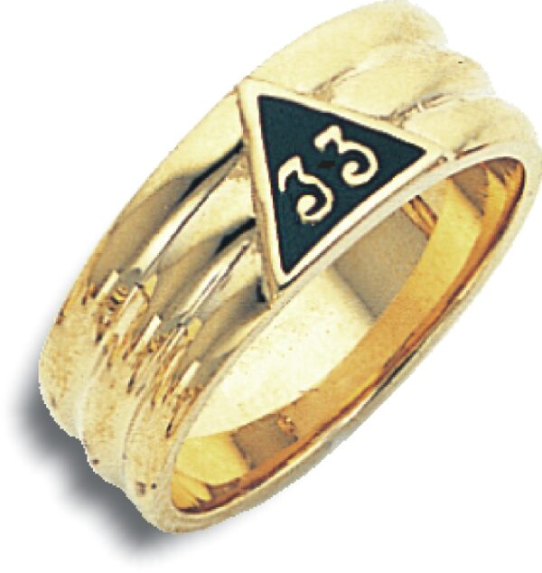 Scottish Rite 33rd Degree Ring Gold New For Sale