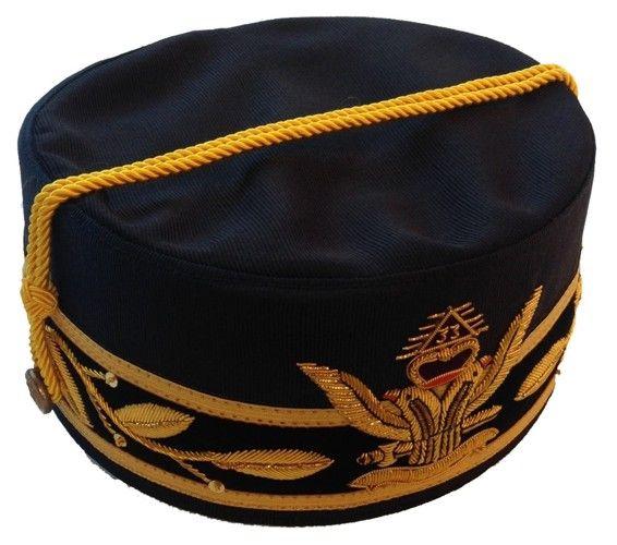 Scottish Rite 33rd Degree Wings Up Cap Crown Black New