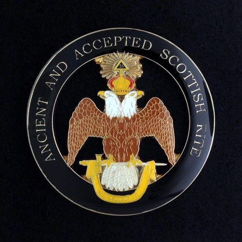 Scottish Rite 33rd Degree Wings Down Auto Emblem New