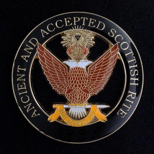 Scottish Rite 33rd Degree Wings Up Auto Emblem New