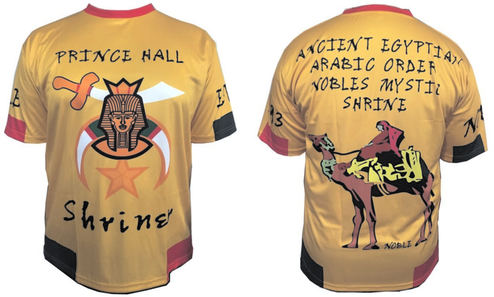 Prince Hall Shriners Jersey (Yellow-Gold)