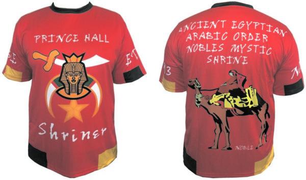 Prince Hall Noble Shrine Shriner Shirt Red New