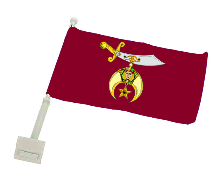 Shriner Full Color Auto or Motorcyle Flag