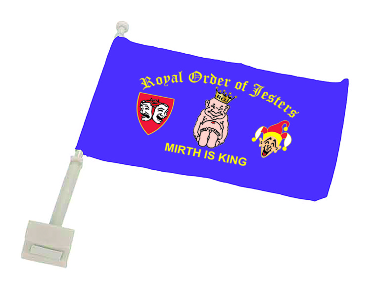 Royal Order of Jesters Full Color Auto or Motorcycle Flag