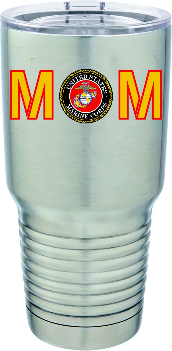 U.S. Marine Corps Mom Full Color 30oz. Polar Camel S/S Mug
