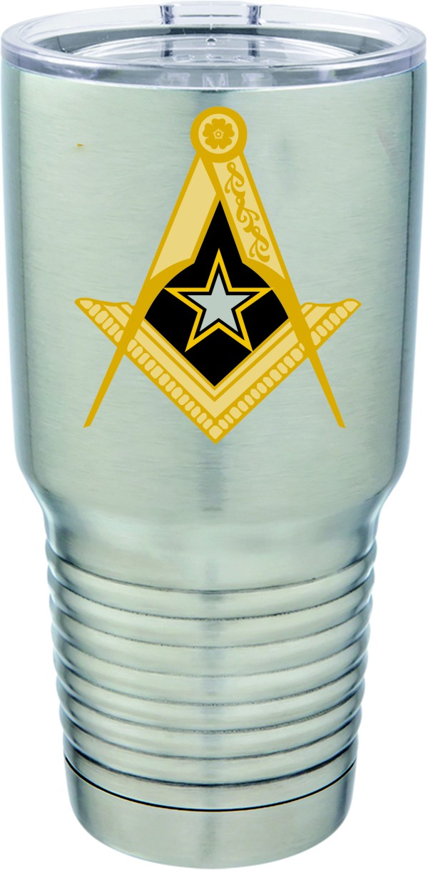 U.S. Army Masonic Full Color 30oz. Polar Camel S/S Mug