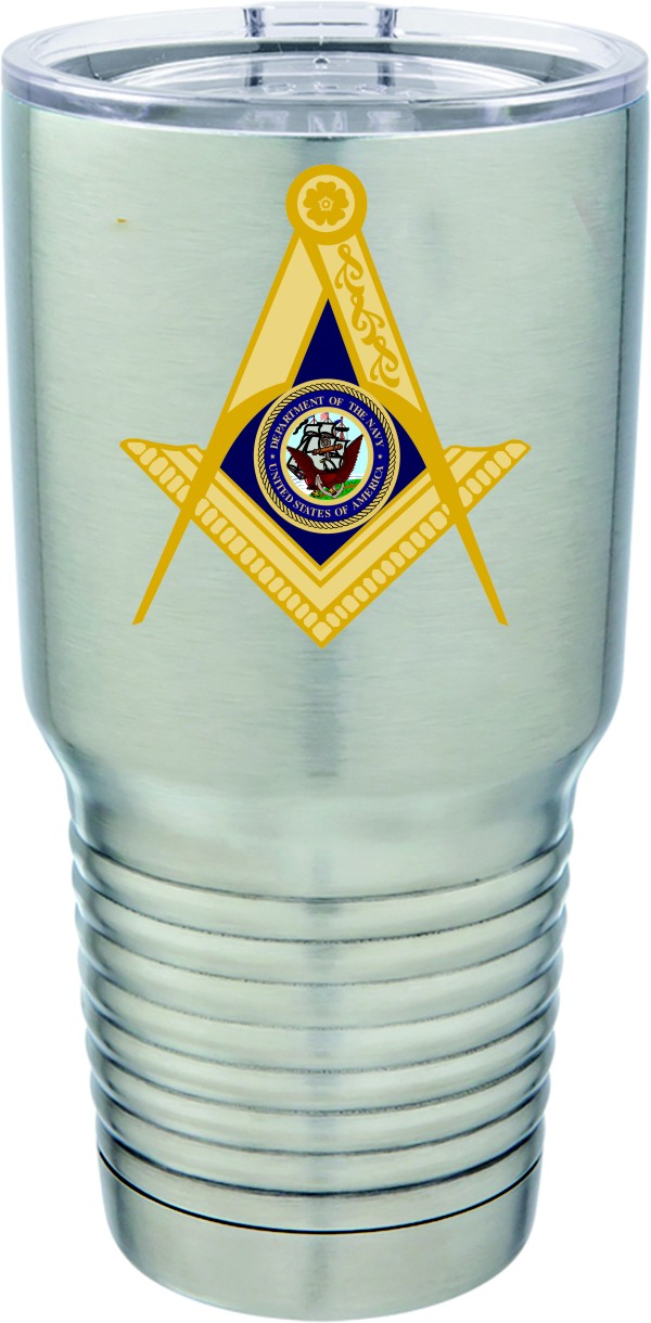 U.S. Navy Masonic Full Color 30oz. Polar Camel S/S Mug