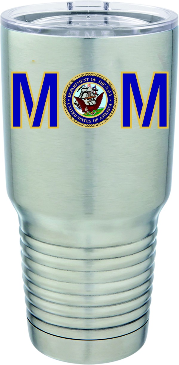 US Navy Mom Stainless Steel Cup Tumbler New