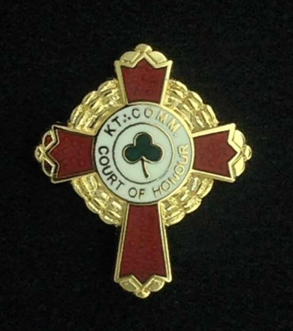 Scottish Rite KCCH Cross Lapel Pin Gold New
