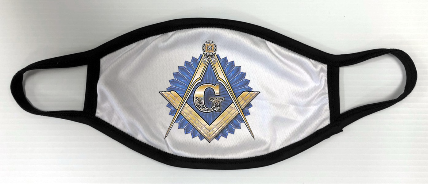 Masonic Face Mask - White