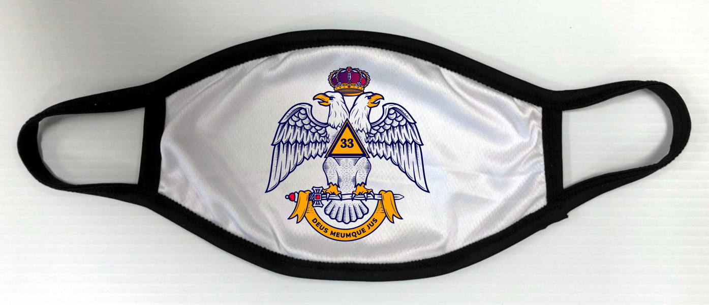 Scottish Rite 33rd Degree Face Mask