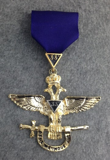 Scottish Rite 33rd Degree Jewel Wings Out