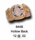 Masonic Ring - Hollow Back in 10K Gold