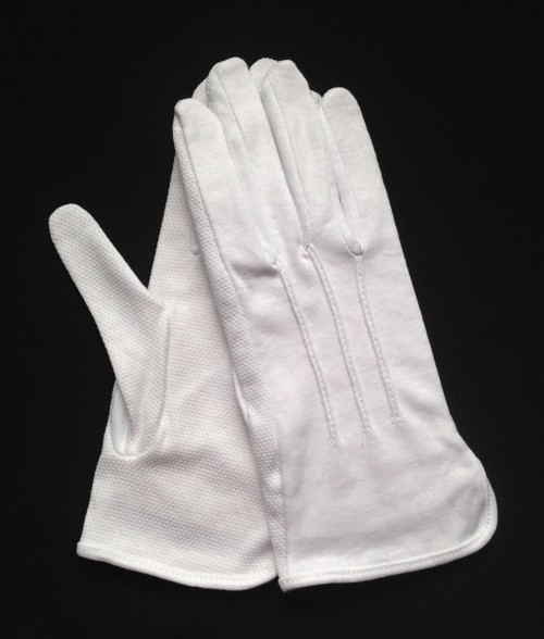 "White Cotton ""Sure Grip"" Slip-On Glove (Dozen)"
