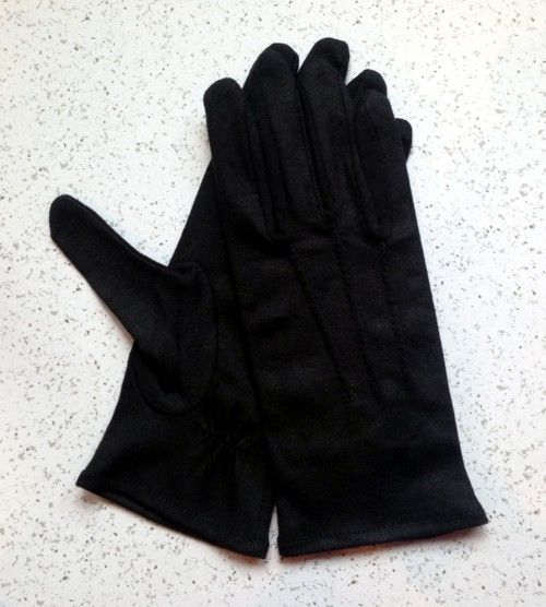 Black Cotton Gloves New For Sale
