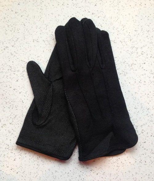 Cotton Gloves Grip Palm Black New