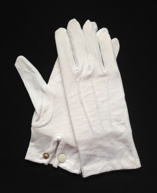 White Cotton Snap-Wrist Glove (Dozen)
