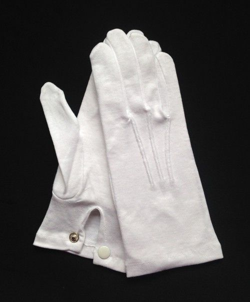 White Stretch Nylon Snap-Wrist Glove (Dozen)