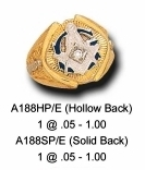 Masonic Ring - Hollow or Solid Back in 10K Gold