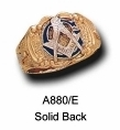 Masonic Ring - Solid Back in 10K Gold