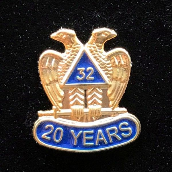 32nd Degree 20 Year Lapel Pin