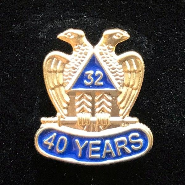 32nd Degree 40 Year Lapel Pin