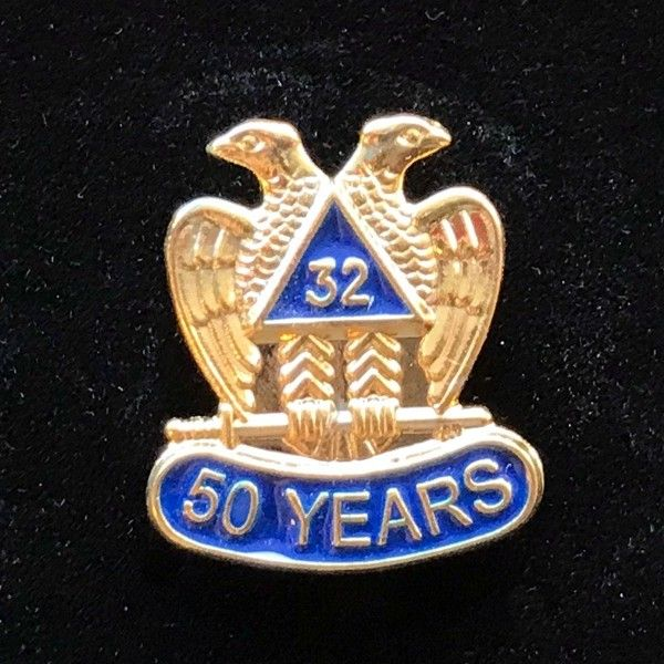 32nd Degree 50 Year Lapel Pin