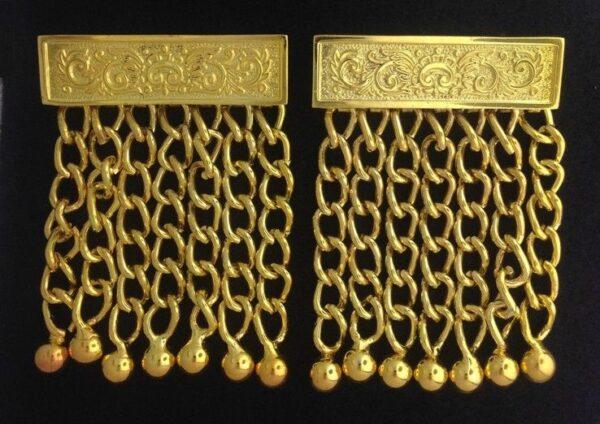 Masonic Apron Chain Tassels Gold New